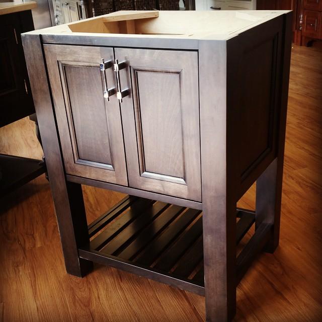 Furniture Vanity #stainedmaple