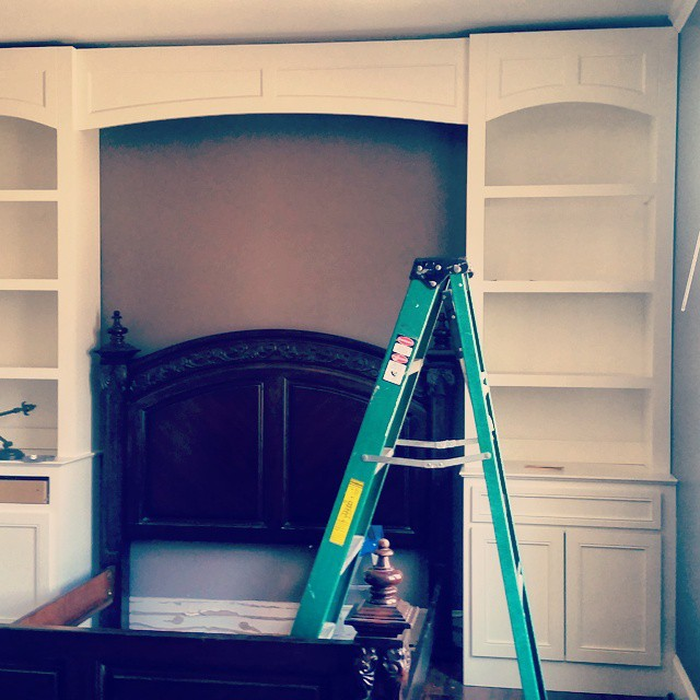 Bedroom install coming along. Stay tuned for finished product!