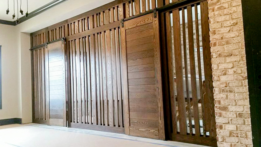 Custom Sliding Barn Doors and dividing wall 2.jpg