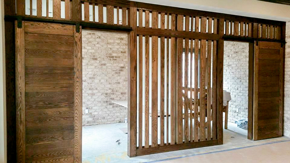 Retreat at Louisville - Custom wood wall and barn doors.jpg