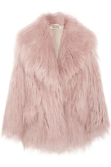 PINK FUR - We want to wear it--we want to pet it!  Just surround us with this beautiful fur!  Paired with jeans and heels or just thrown over a chair--we'll love this fur beauty until the end of time!