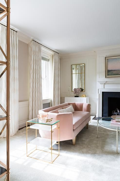 PINK SETTEES  - In any interior this hue looks luxurious and almost acts as a neutral from heaven!  Not too girlie--where the men in your life feel uncomfortable in the space--the good ones always appreciate a nice pink anyways!