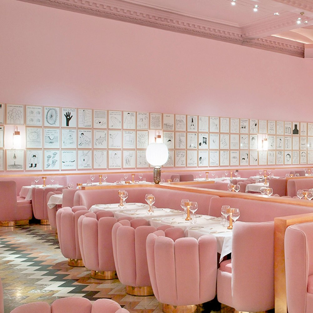 PINK RESTAURANT   - Sketch in London is high on our list of places to dine when we make it there!  To be surrounded by an entire sea of pink--it has to make the food taste that much more lovely!