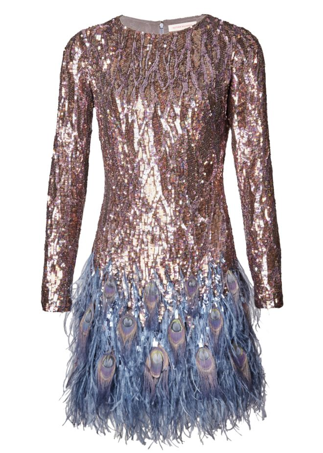 BLUE LIQUID SEQUIN PEACOCK FEATHER DRESS.jpg