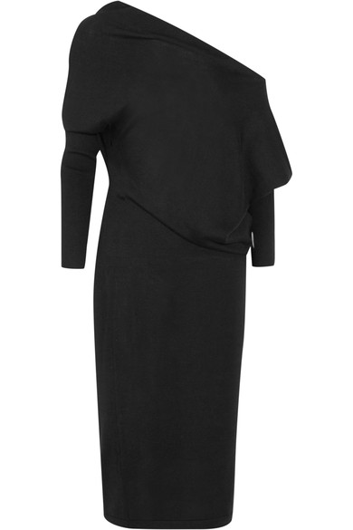 TOM FORD Off-the-shoulder cashmere and silk-blend midi dress.jpg