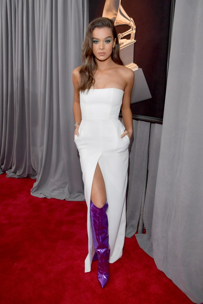 Hailee Steinfed  - in Alexandre VauthierThat white, and pockets, and then those ultra violet knee-high boots kick it over the top.  Already rocking Pantone's hue of the year--well played, Miss Stein-fed, well played.
