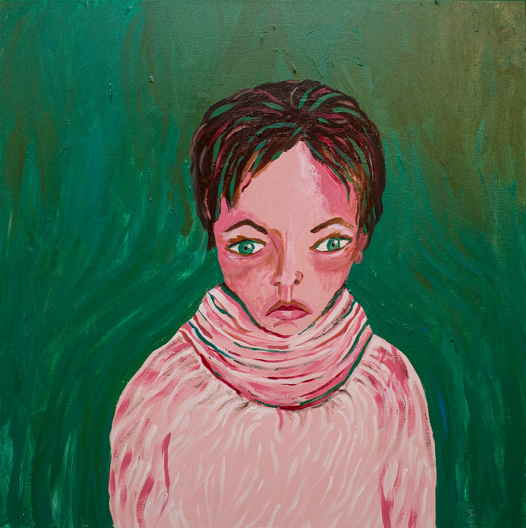 A Syrian Girl   2'X2' acrylic on canvas