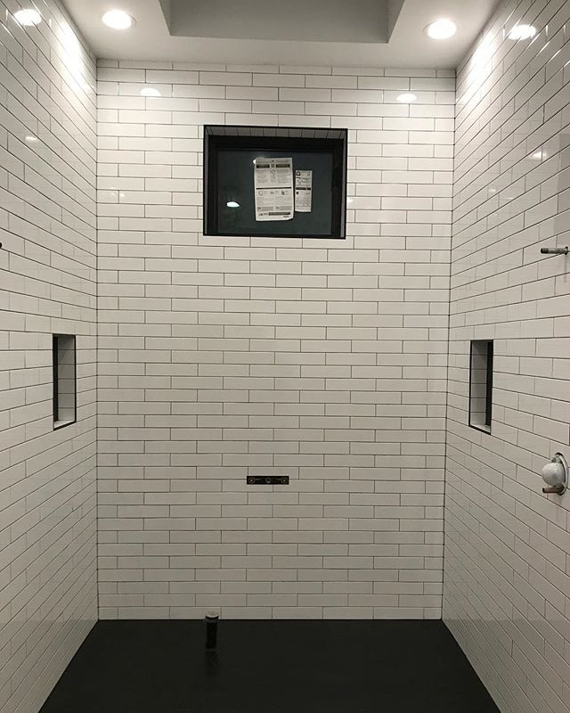 So fresh. So clean. ✨ || 📍NE Minneapolis || #subwaytile #bathroomremodel #showergoals