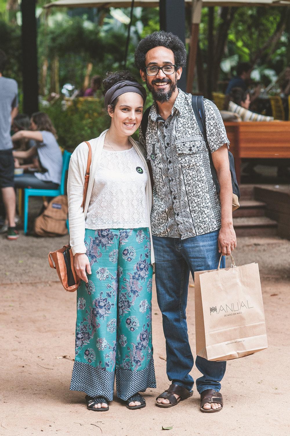 Quer mais casal lindo? Então olha só a Lia Campos e o Maciel Santos <3 Eles adoram os eventos do Museu da Casa Brasileira. No #MANUALnoMCB se apaixonaram por projetos como   Popoke  ,   Clube do Bordado  e pelas delícias da   Meraki Confeitaria  .