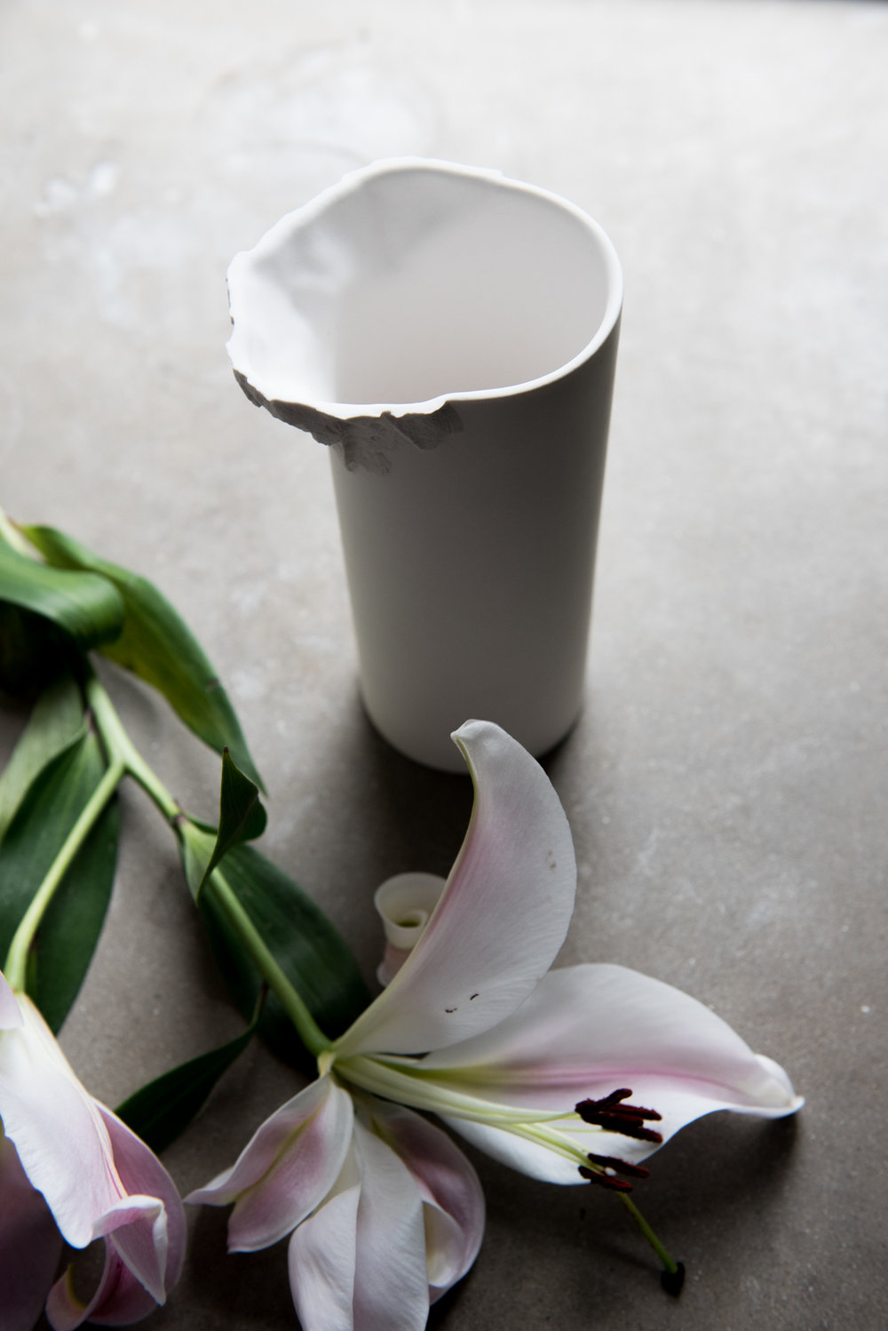 Porcelain Vase - Ian McIntyre. Originally designed in 2008 - redesigned in 2016 for M&R. Made on Bornholm