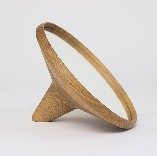 SATELLITE - Hand mirror : atural oak