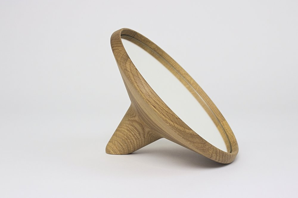 SATELLITE - Mirror : natural oak