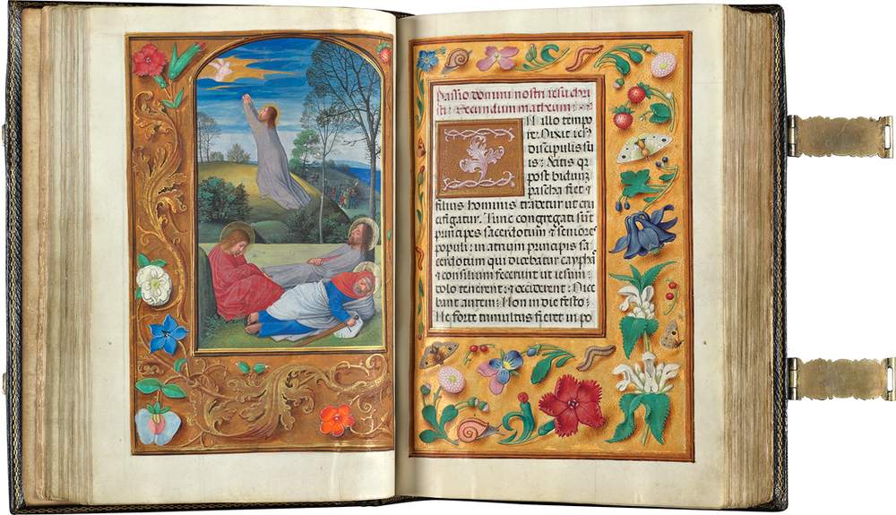 This book of hours (ca. 1530-1535) contains illuminations attributed to the great Flemish artist Simon Bening, framed by decorated motifs from nature.