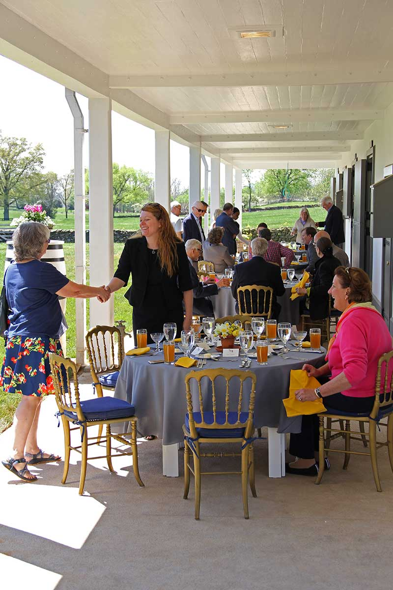 In April 2017, the Oak Spring Garden Foundation celebrated the opening of the Broodmare Barn with locals and members of the OSGF board of directors.