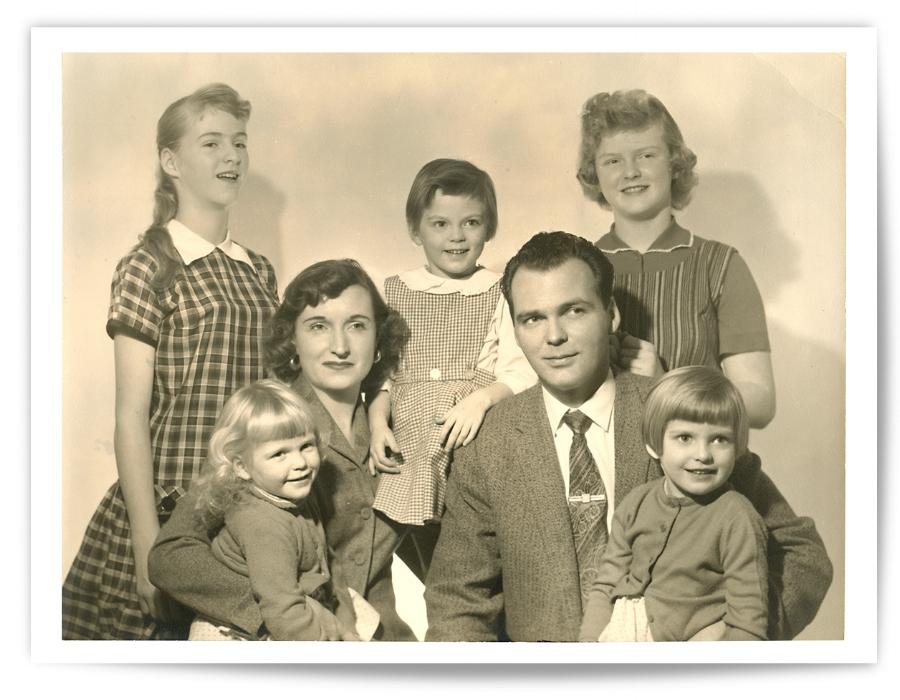My Irish Catholic upbringing was progressive...I  thought. (That's me, on the lower right.)