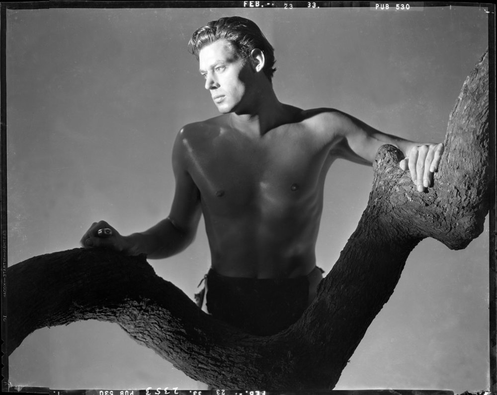 Johnny Weissmuller as Tarzan 1933 from original 8x10 negative