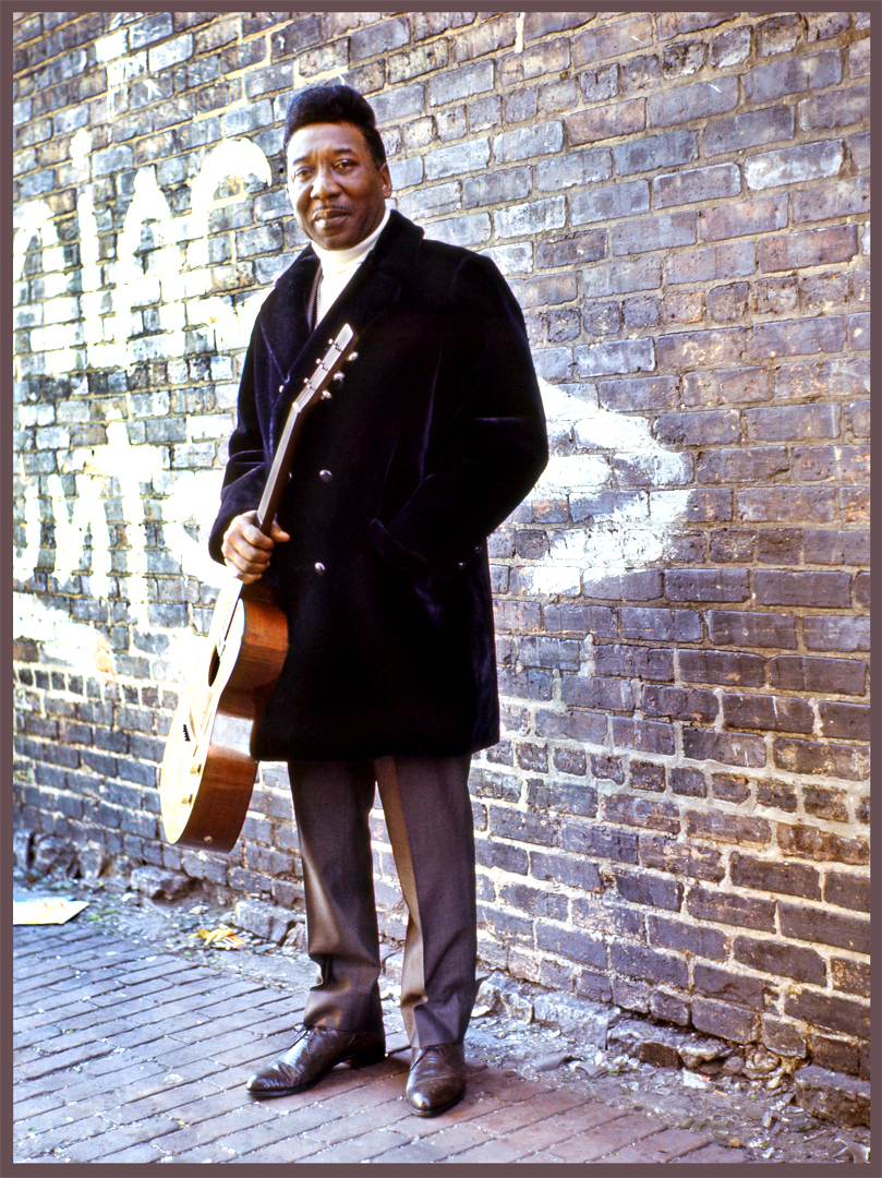Muddy Waters c.1965 from original 35mm negative