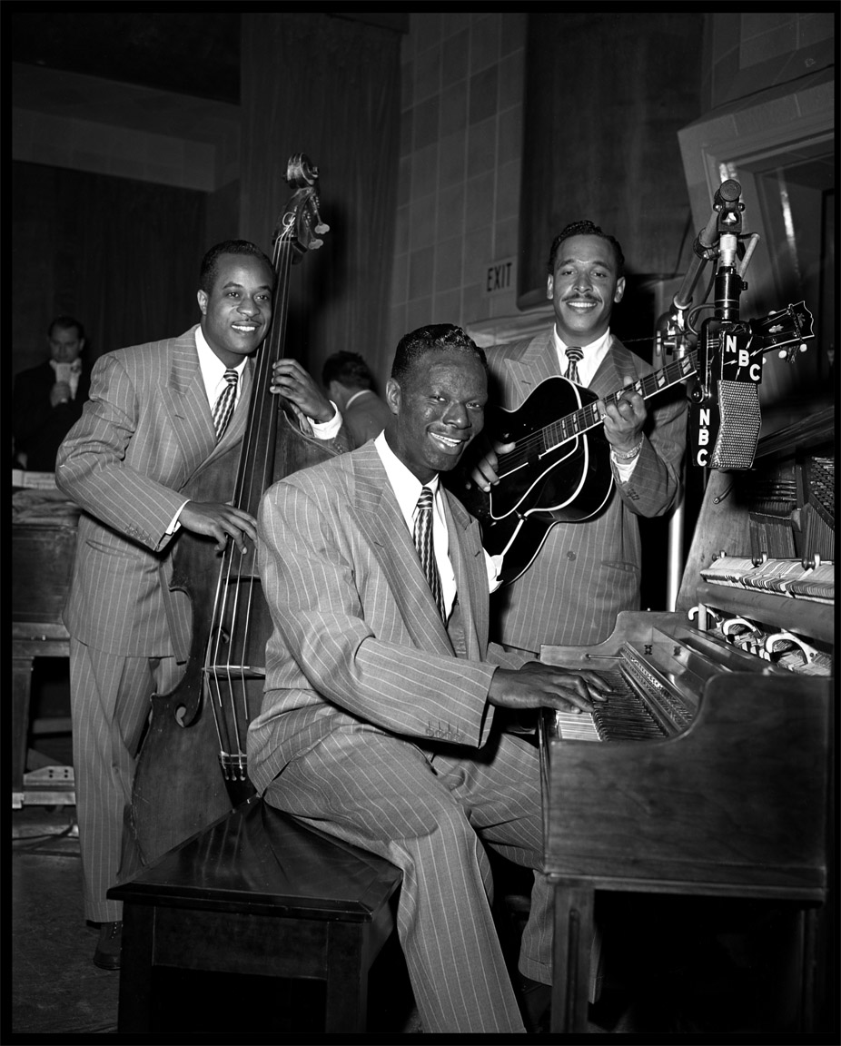 The Nat King Cole Trio c.1948 from original 4x5 negative