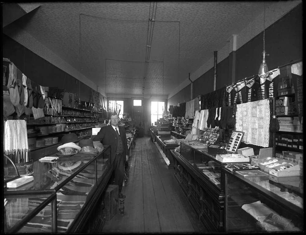 Clothing Store c.1915 from original 8x10 glass plate negative