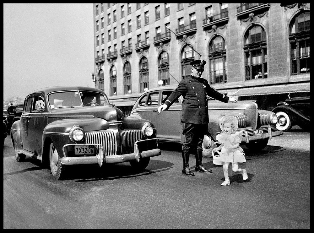 Easter Parade c.1947 from original 4x5 negative