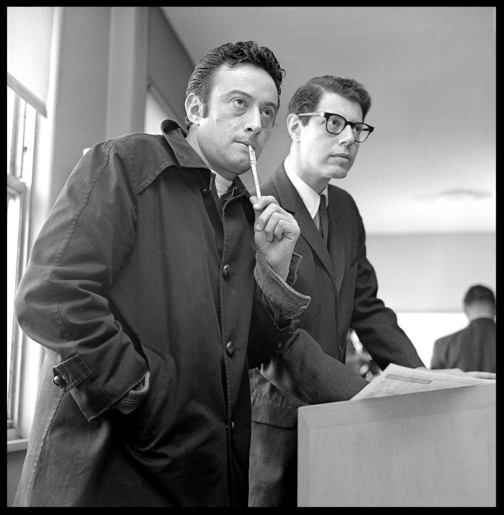 Lenny Bruce & Attorney c.1961 from original 2.25 negative