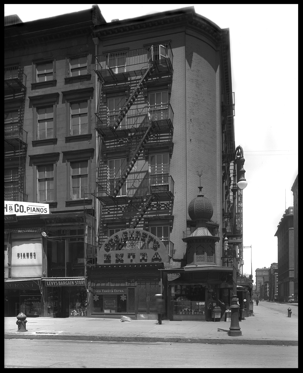 14th st & Irving Place c.1913 from original 8x10 negative