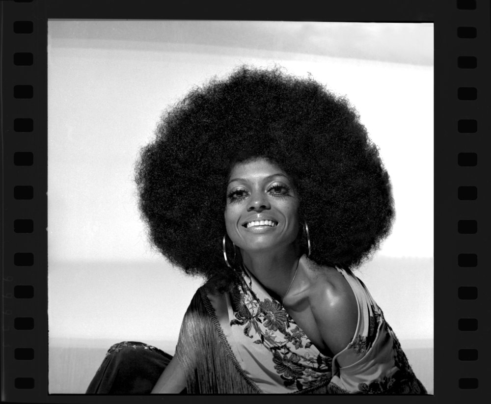 Diana Ross c.1973 from original 35 mm negative