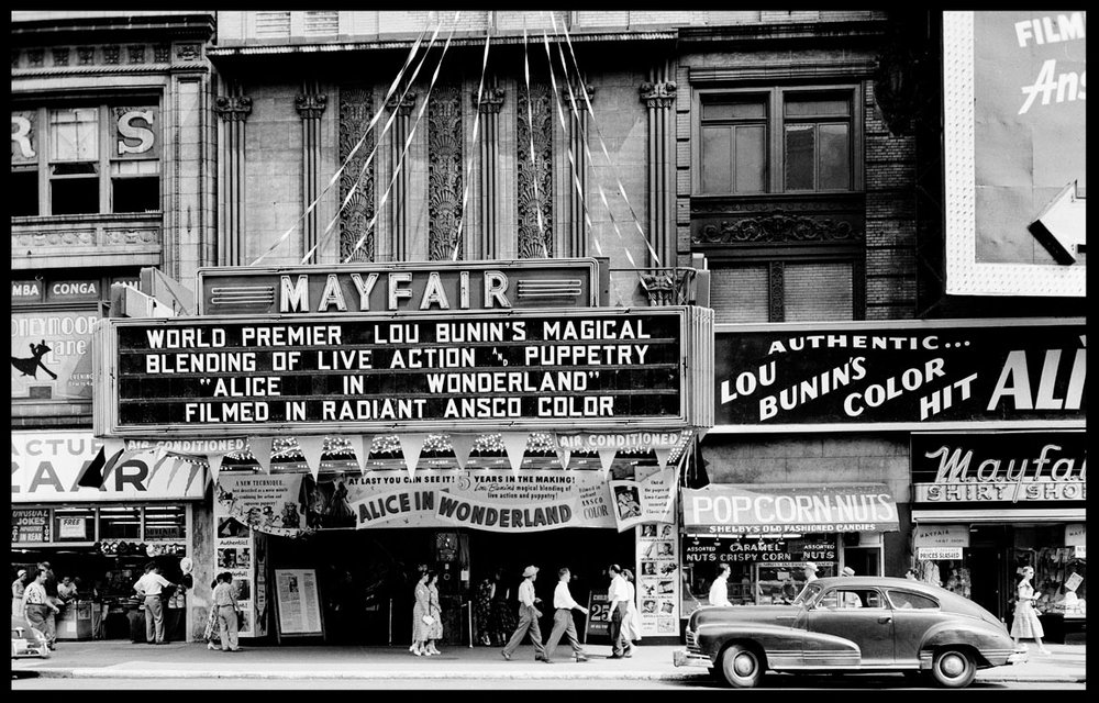 Mayfair Theater, Alice in Wonderland c.1951 from original 4x5 negative