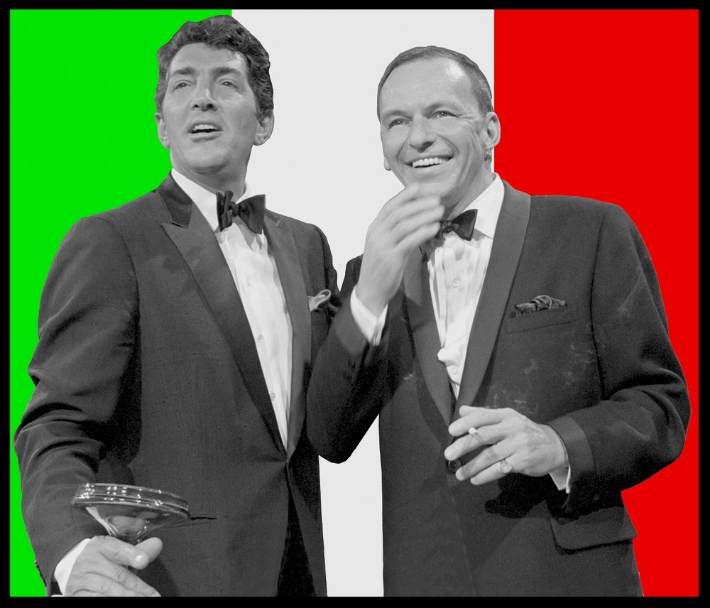 Dean Martin & Frank Sinatra c.1955 from original 2.25 negative