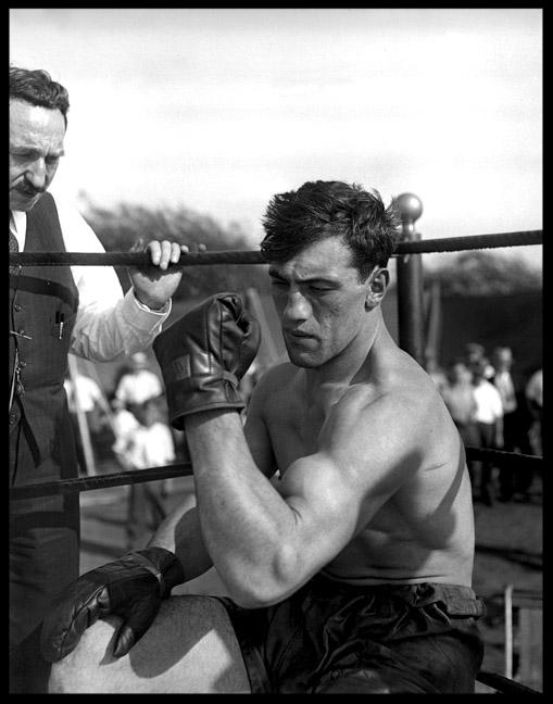 Primo Carnera c.1930 from original 4x5 glass plate negative
