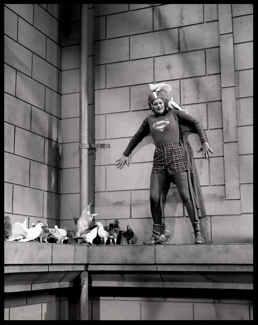Lucille Ball as Superman from The I Love Lucy Show 1957 from original 4x5 negative