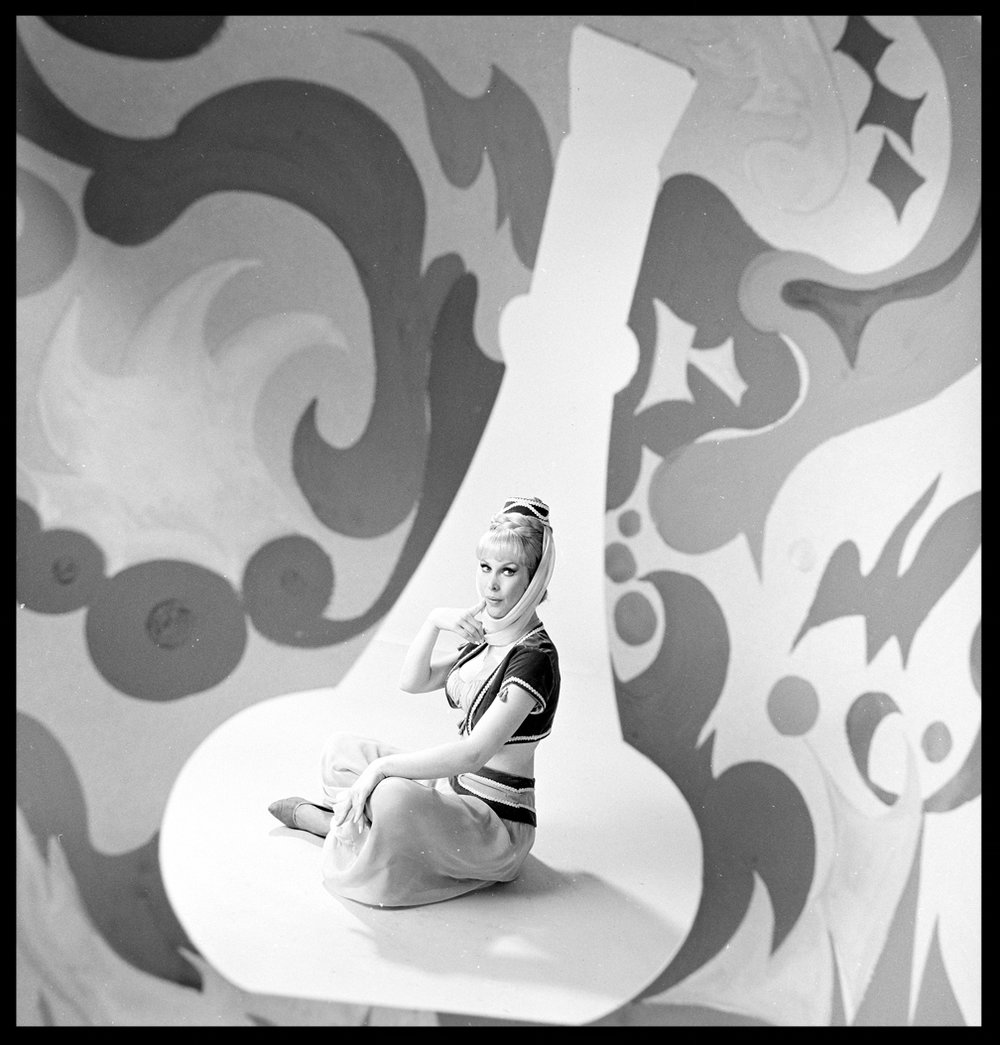 I Dream of Jeannie with Barbara Eden c.1965 from original 2.25 negative