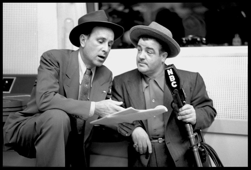 Abbott & Costello c.1942 from original 4x5 negative