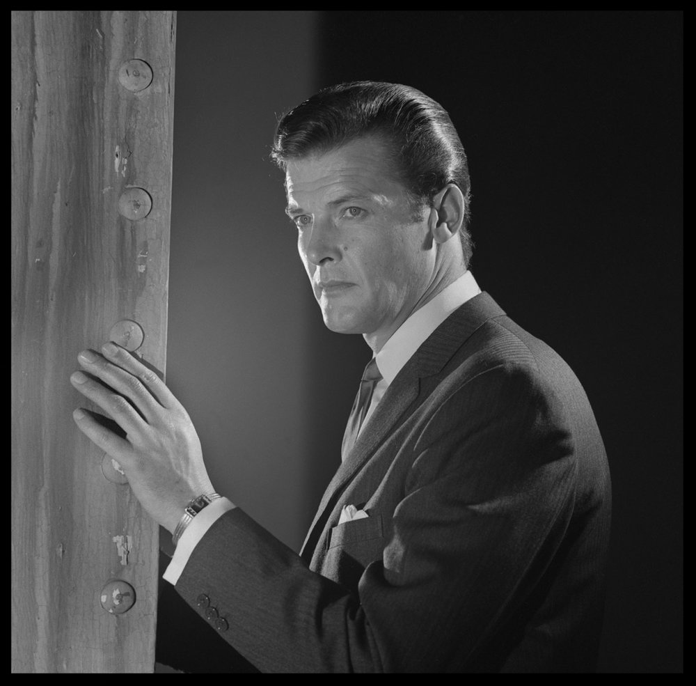 Roger Moore The Saint c.1962 from original 2.25 negative