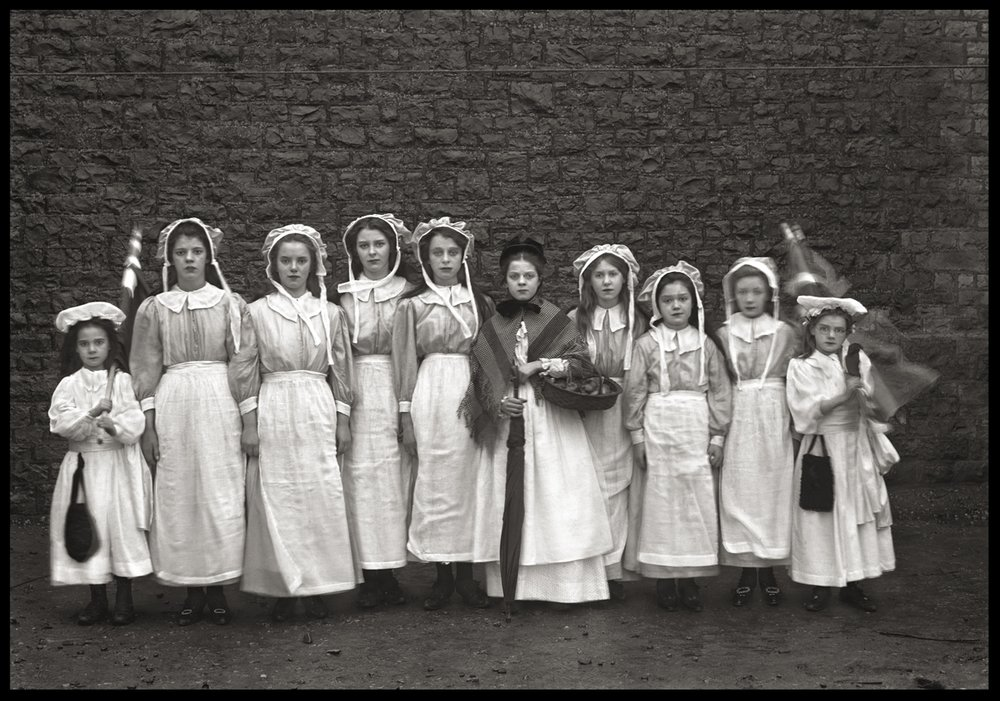 10 Haunted Maids c.1890 from original 5x7 glass plate negative