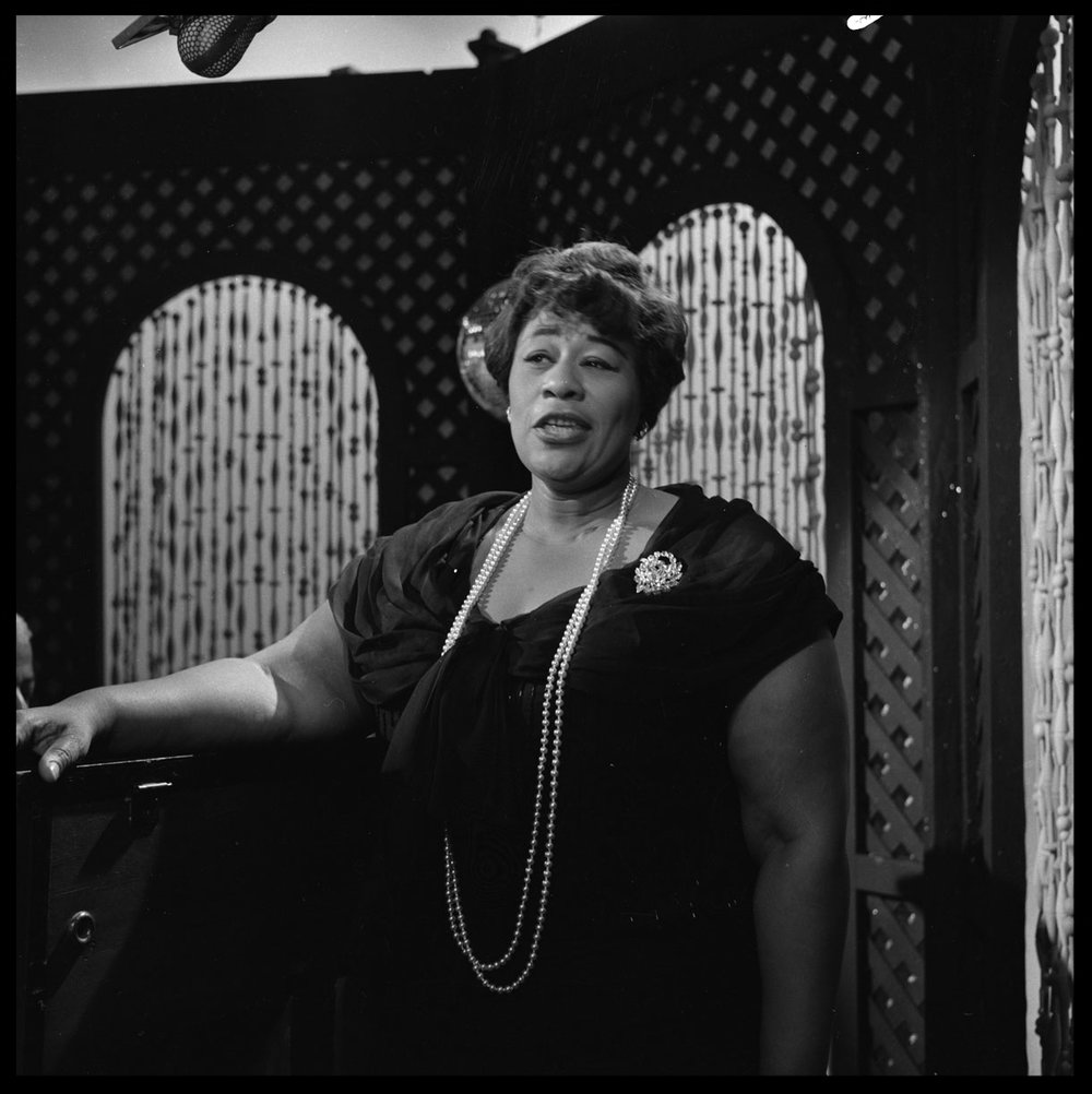 Ella Fitzgerald c.1955 from original 2.25 negative