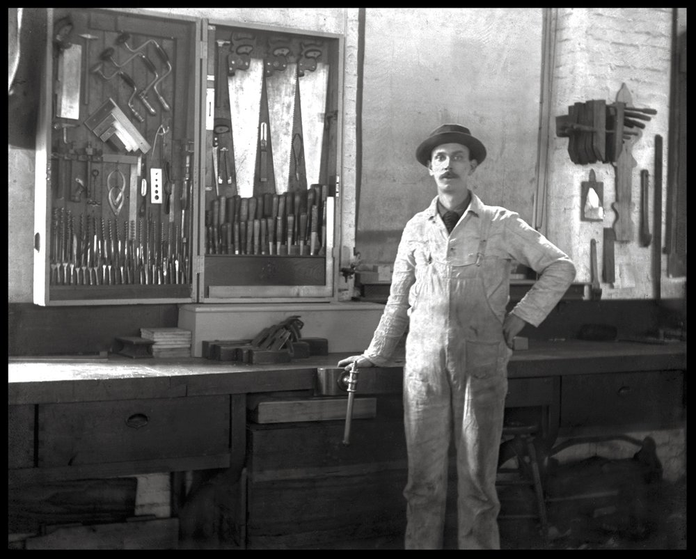 Carpenter c.1920 from original 4x5 glass plate negative