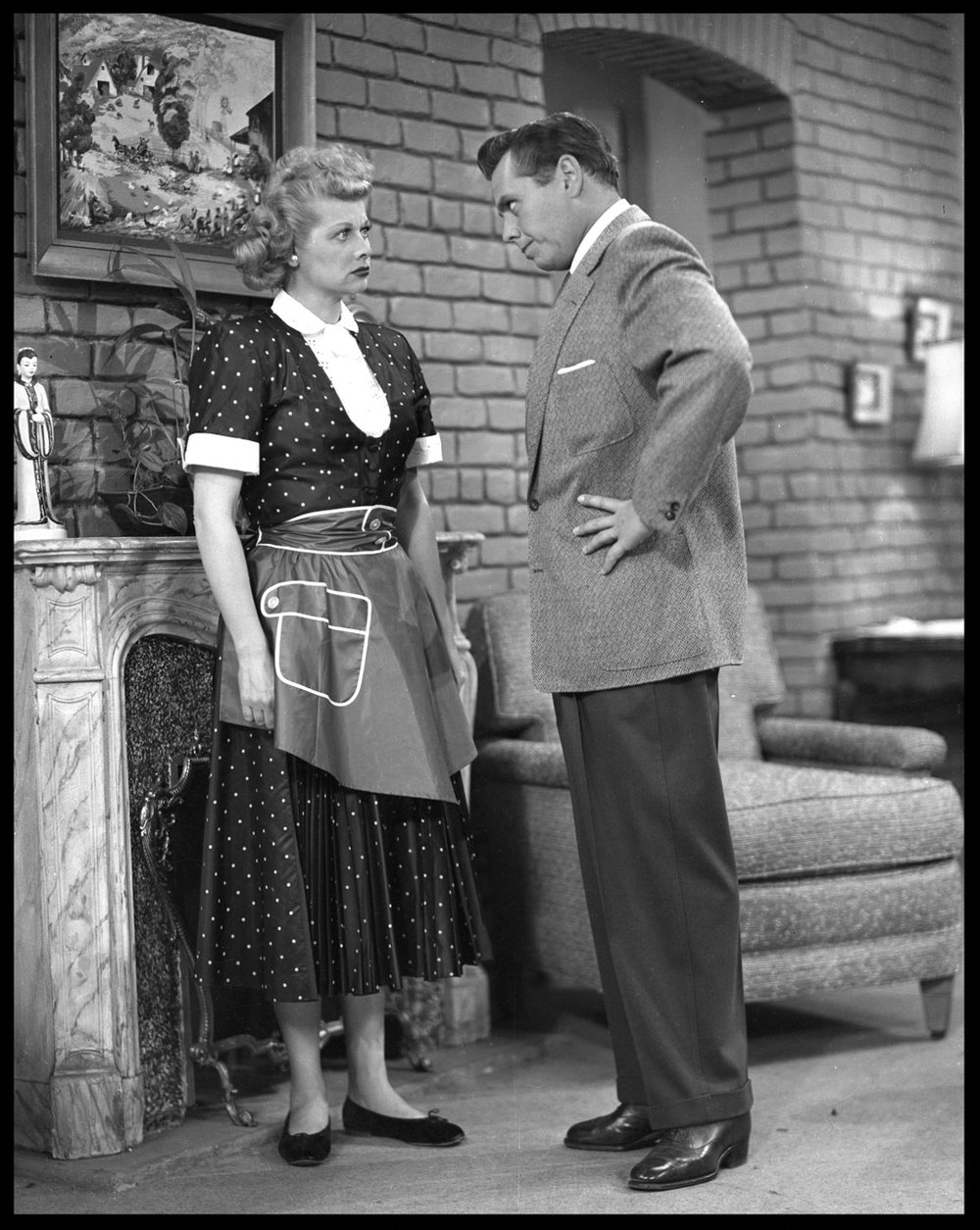 Lucille Ball & Desi Arnaz, At It Again, from The I Love Lucy Show c.1956 from original 4x5 negative