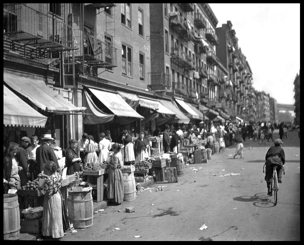 Lower East Side NYC c.1910 from original 4x5 glass plate negative