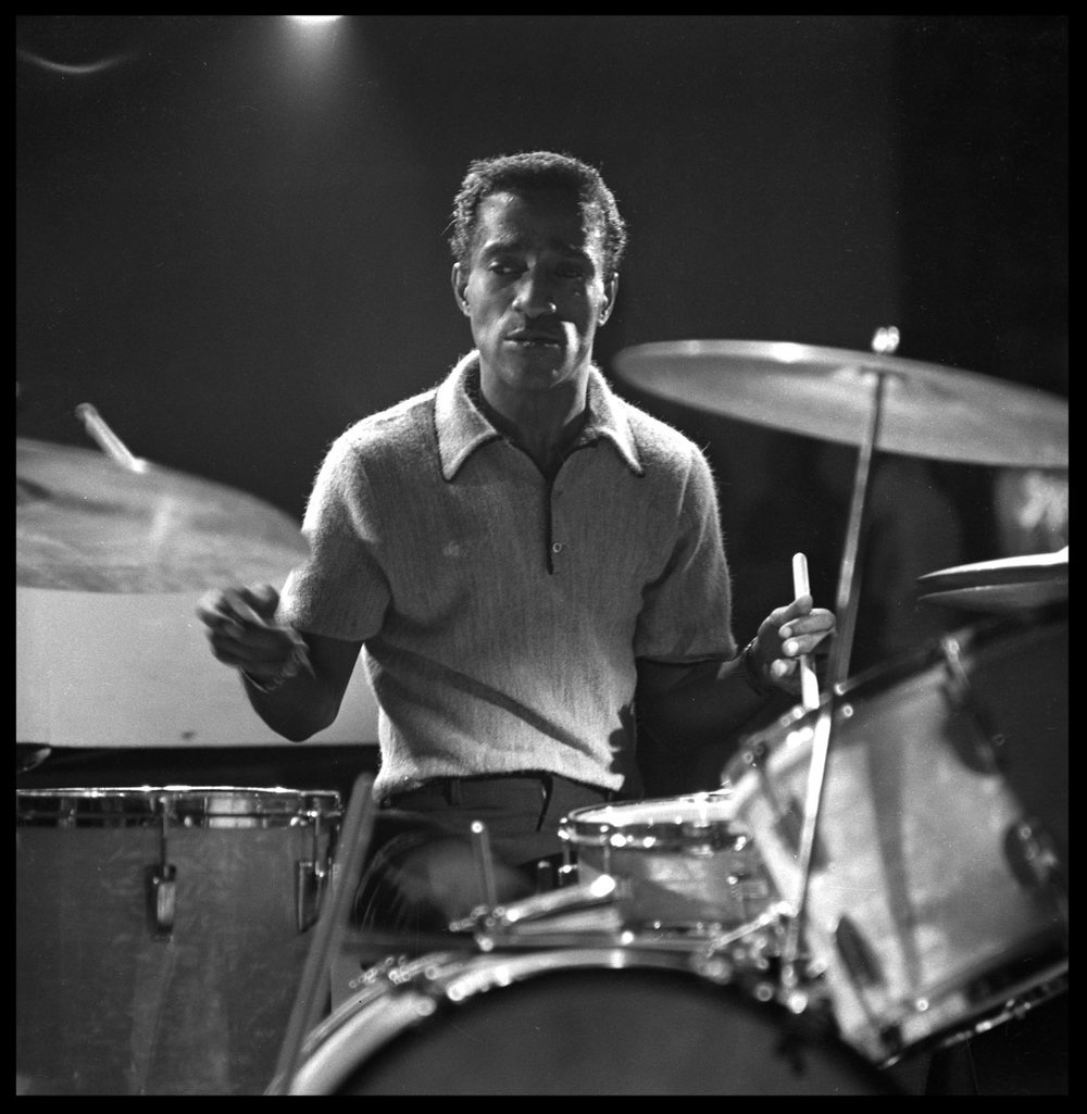 Sammy Davis Jr. Mr. Entertainment at Drums c.1957 from original 2.25 negative
