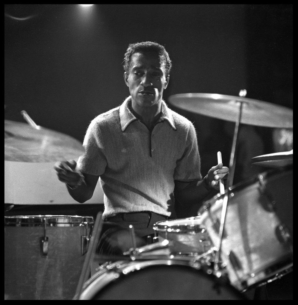 Sammy Davis Jr. Mr. Entertainment at Drums c.1957 from original 2.25 negative