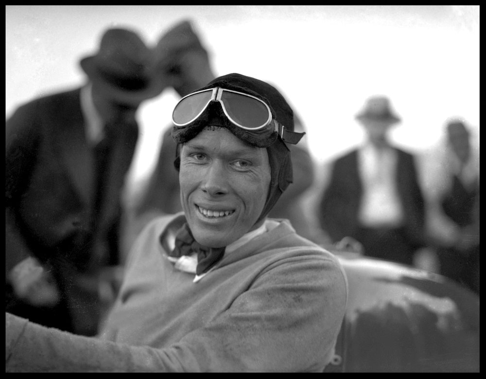 Race Car Driver c.1920 from original 4x5 glass plate negative