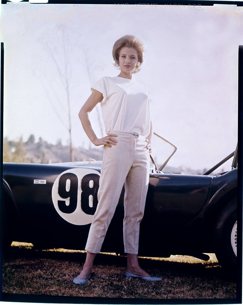 Angie Dickinson Against Shelby Cobra c.1967 from original 4x5 transpency
