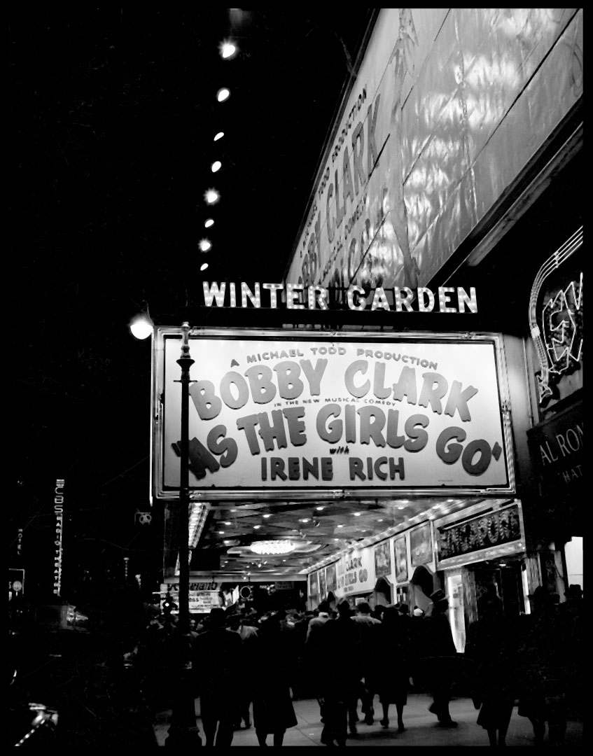 Winter Garden Theater c.1948 from original 4x5 negative
