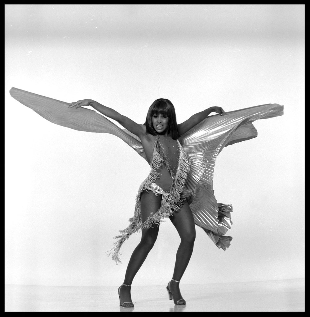 Tina Turner ( in a Bob Mackie outfit ) c.1972 from original 2.25 negative