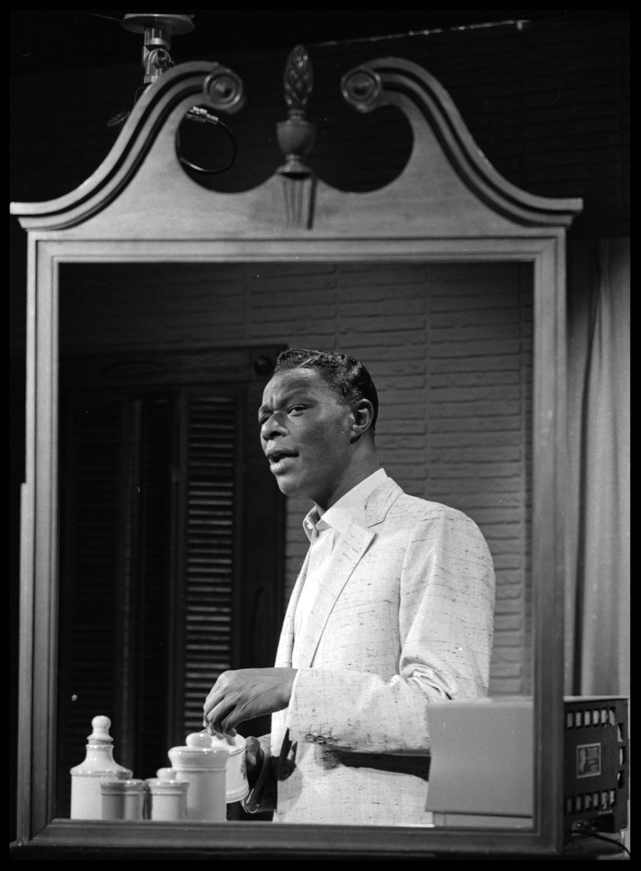 Nat King Cole c.1956 from original 2.25 negative