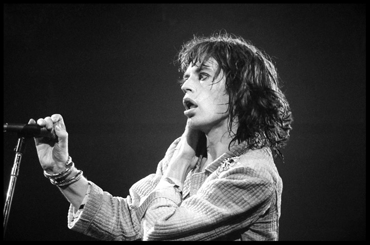 Mick Jagger The Rolling Stones c.1975 from original 35mm negative