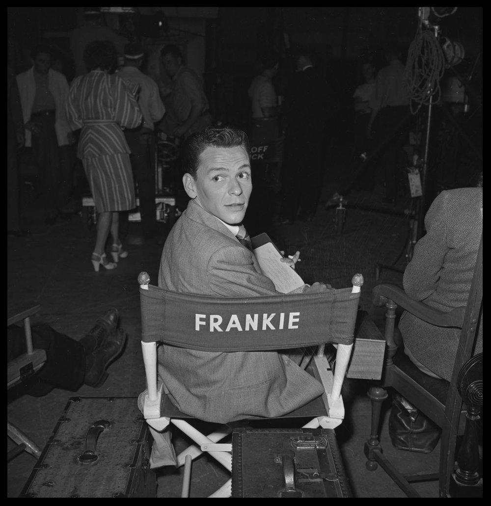 Frank Sinatra c.1945 from original 4x5 negative