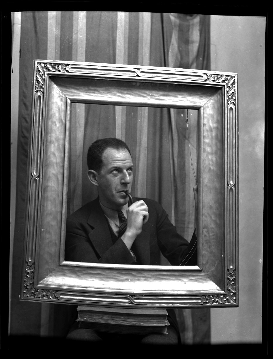 A Framed Man c.1950 from original 2.25 negative