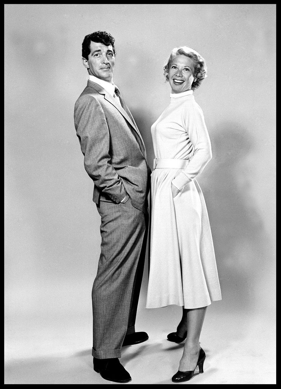 Dean Martin & Dinah Shore c.1955 from original 4x5 negative